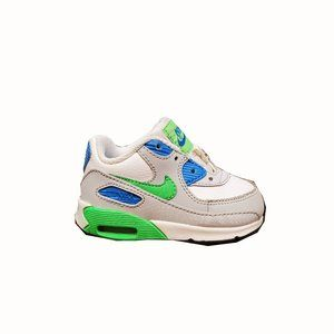 Nike Air Max 90 Toddler Athletic Shoes Neon Green